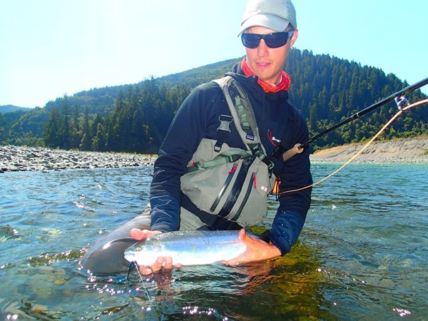 Guest with a steelhead