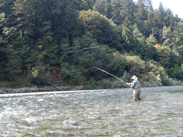 Spey casting on the Klamath