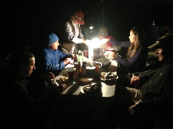 Dining at Spey Camp