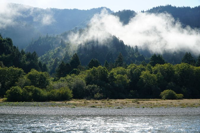 Morning mist on the Klamath