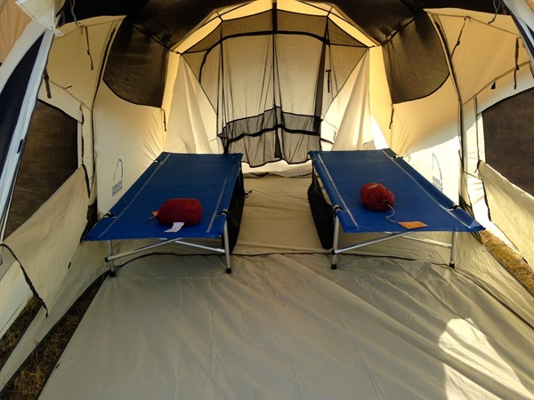 Inside view of guest tent